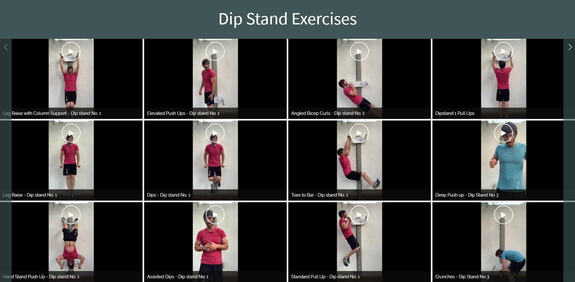 Dip Stand Videos