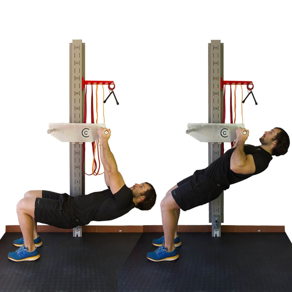 Side View of Horizontal Pull Up