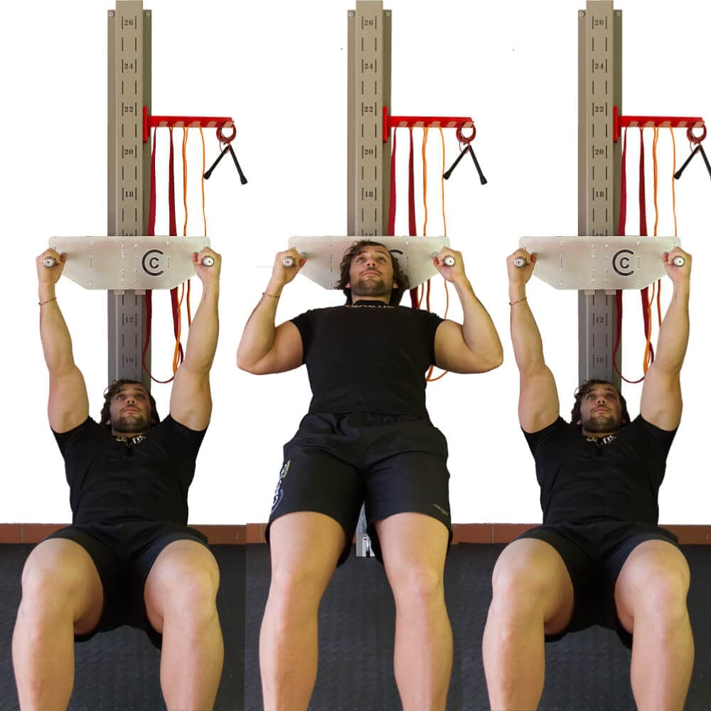 Front View of Horizontal Pull Up